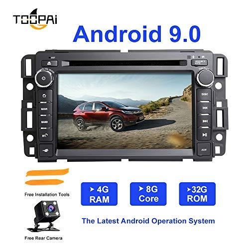 Android Autoradio Stereo, ZLTOOPAI Für Chevrolet GMC Hummer Yukon Acadia Buick Suburban TahoeExpress Android 9,0 Octa Core 4G RAM 32G ROM HD Multi-Touchscreen Auto Stereo GPS Radio DVD-Player