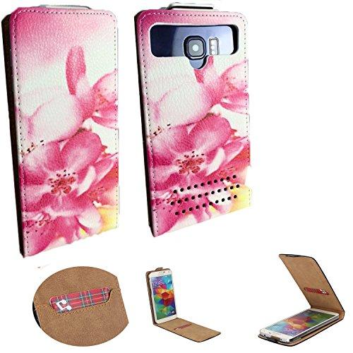 Handy Schutz Hülle | für SiSWOO Monster R8 | Slim Flipstyle mit Magnetverschluss | PU Leder | - Flip Nano L Orchidee