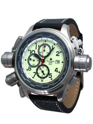 XXL Flieger Chronograph -Alarm-Weck-Funktion- Spez. Schutzkronen A1404