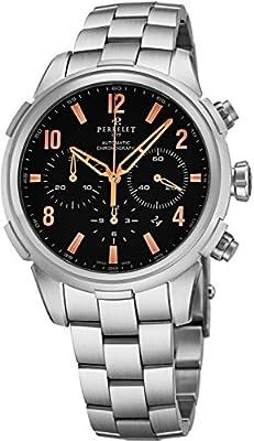 Perrelet Men's Class-T 44mm Steel Bracelet & Case Automatic Watch A1069-C