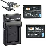DSTE BP-1030 Li-ion Batería (2 paquetes) Traje y cargador micro USB para Samsung NX200 NX210 NX300 NX300M NX500 NX1000 NX1100 NX2000