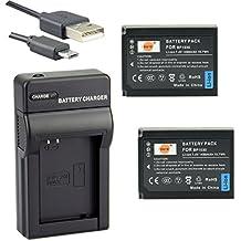 DSTE BP-1030 Li-ion Batteria (2-Pacco) e Caricabatterie USB per Samsung NX200 NX210 NX300 NX300M NX500 NX1000 NX1100 NX2000