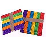 1cfb265555b11 200 piezas de Madera del Arte Palillos Palos de Arte de Colores Lollipop  Stick Perfecto para