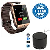 captcha Bluetooth Smartwatch with S10 Speaker - (Gold)