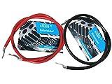 eXODA Batteriekabel Set 35 mm² 100cm Kupfer Stromkabel mit Ringösen M8 Rot und Schwarz