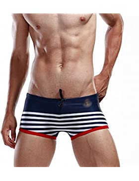 SEY Swim Trunks - Summer Shorts Men's Home Underwear Navy Style Stripe Boxer Shorts,mi,L