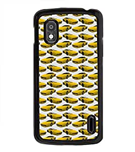 Vizagbeats Yellow Cars Back Case Cover for LG NEXUS 4 E960