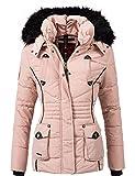 Marikoo Damen Winter Jacke Steppjacke Vanilla (Vegan Hergestellt) Rosa Gr. XS