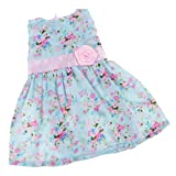 Gazechimp Vêtement de Poupée Robe Floral Multicolore Accessoires Pour 18'' American Girl Dolls Jouet Cadeau Enfant Fille...