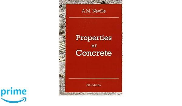 Verrassend Properties of Concrete: Amazon.de: A. M. Neville: Fremdsprachige DW-33