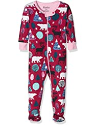 Hatley Footed Coverall-Nordic Forest, Grenouillère Bébé Fille