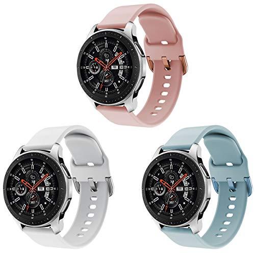 Yayuu Compatible para 22mm Correa de Reloj Galaxy Watch 46mm/Gear S3 Frontier/Classic Banda de Reemplazo de Silicona Deportiva Pulsera para Moto 360 2nd Gen 46mm/Huawei Watch GT/Ticwatch Pro