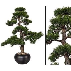"""Kunstpflanze Bonsai """"Zeder"""" im Keramiktopf mit einer Höhe von 70cm - künstliche Bonsai Pflanzen Kunstpflanzen Dekopflanzen asiatische Dekoration Thai Deko China Dekorationen --> großes Kunstpflanzen Sortiment"""