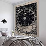 Haggai Advanced Hanging Cloth Tarot Card Tapestry Wall Hanging Astrology Divination Beach Mat(None one size H05)