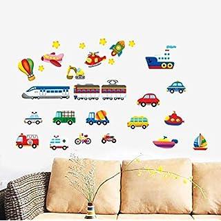 taoyuemaoyi Cartoon LKW Traktoren Autos Wandaufkleber Kinderzimmer Fahrzeuge Wandtattoos Kunst Poster Fototapete Wohnkultur Wandbild Aufkleber