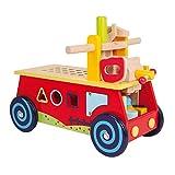 """Motorikwagen """"Werkbank"""" aus Holz, mit allerlei Zubehör, vielseitiger Spielspaß und motorisches Lernen garantiert, ab 2 Jahre"""