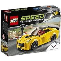 Lego Speed Champions – 75870 – Modellino Auto Chevrolet Corvette Z06 - Corvette Z06 Logo