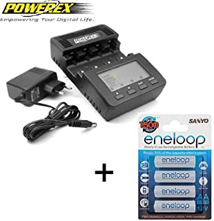 Powerex WizardOne - Pack de 4 pilas AA Sanyo Eneloop y cargador (B009CY3V3S) | Amazon price tracker / tracking, Amazon price history charts, Amazon price watches, Amazon price drop alerts