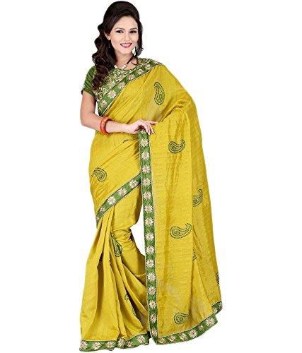Kuvarba Fashion Saree (Madhuri.1_Olive Green)