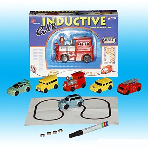Giocattoli Natale Anniversario regalo Magic Mini Pen veicoli a giocattoli inductifs modello di auto segua tutte le linee di disegno Toys for Children Gift