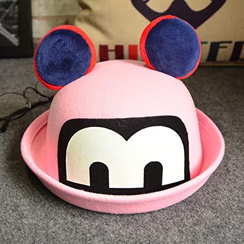 mlpnko Kinder Hut leuchtende Mickey Wollmütze Baby Jungen und Mädchen Cartoon Curling Becken Hut Schatten öffentlichen rosa Code - Kolonial Dame Kind Kostüm