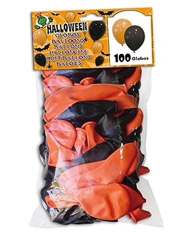 100 Ballons noirs et oranges