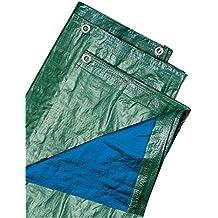 Biacchi Ettore 54073 Telo Blu, 4X 6 Occhiellato, 100 g, Verde