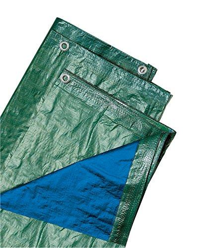 Verdelook telo occhiellato multiuso in polietilene, 6x4 m, verde/blu, coperture