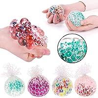 AK. SSI unbedeckte weiß Net Dekompression Grape Ball Venting Funny Hand Pinch Spielzeug * 1