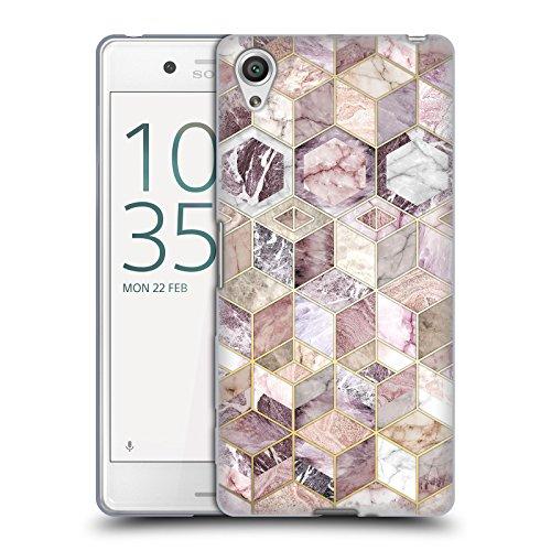 Offizielle Micklyn Le Feuvre Erröten Quarz Honigwabe Marmor Muster Soft Gel Hülle für Sony Xperia X Performance