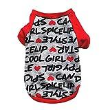 Hawkimin Haustier T-Shirt, Beiläufig Baumwolle Wort Alles über Gedruckt Pyjama Freizeitkleidung Hund Kleider Weste Welpen Hunde Kostüm Sweatshirt Haustierzubehör Bekleidung