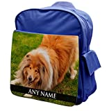 Personalised Scotch Collie Dog Animal BLUE Rucksack Backpack 265