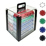 Trademark 1000 11.5 Gram Suited Design Poker Chips In Acrylic Carrier, Clear