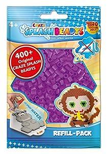 CRAZE- Cuentas de fusibles Fuse Splash BEADYS Recambio de Paquete de reemplazo de Perlas Purple Violet Craft Beads Set 11843, Color púrpura (