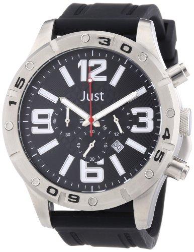 Just Watches 48-S3978-BK - Orologio da polso uomo, caucciú, colore: nero