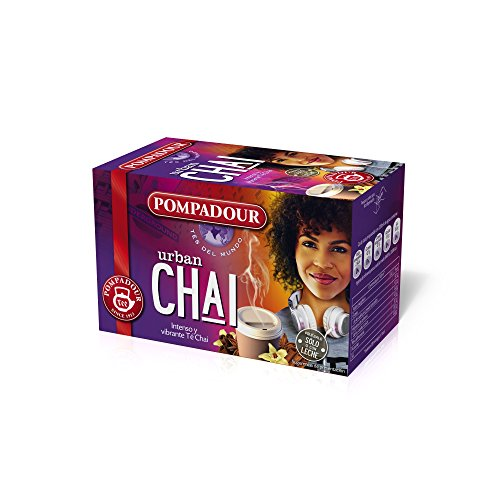 Pompadour Té Mundo Urban Chai - Pack 5 100 bolsitas