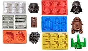 Joyoldelf - Bac à glaçons / Moules Gateaux en silicone Star Wars Thème - Lot de 6