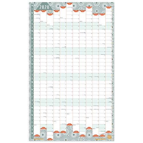 Boxclever Press Wandkalender 2020. Jahresplaner 2020 im Hochformat fürs Zuhause oder Büro. Kalender 2020 für die Wand mit Laufzeit von Januar bis Dezember 2020. Unlaminiert