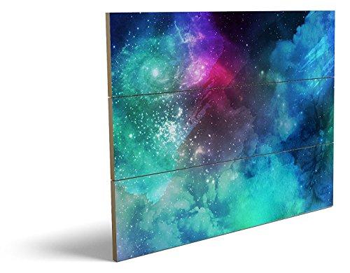 Das etwas andere Farbenspiel, qualitatives MDF-Holzbild im Drei-Brett-Design mit hochwertigem und ökologischem UV-Druck Format: 80x60cm, hervorragend als Wanddekoration für Ihr Büro oder Zimmer, ein Hingucker, kein Leinwand-Bild oder Gemälde