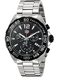amazon co uk tag heuer watches tag heuer formula 1 chronograph black dial mens watch caz1010 ba0842