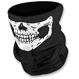 THG® Unique Stretchable Windproof Black Tribal Classic Skull Soft Polyester Half Face Mask Facemask Headwear Motorcycle ATV Biker Cycling