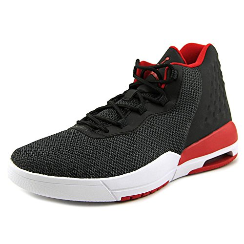 Nike Luft Jordan Akademie BG Hi Top Basketball Turnschuhe 844520 Turnschuhe Black / weiß / Metallisch Gold