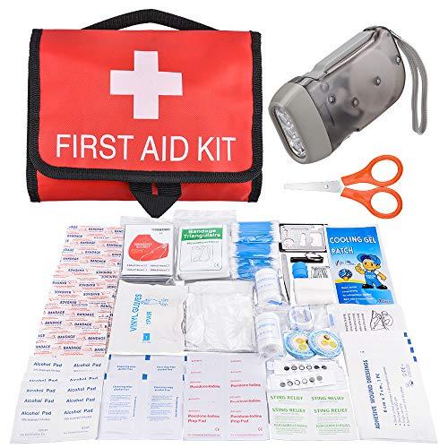 Oziral Scatola Rigida Kit di Pronto Soccorso Compatto Mini Kit Emergenza Medica Impermeabile per Auto da Viaggio Casa Ufficio Campeggio Luogo di Lavoro Escursioni Caccia