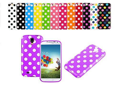 Handyhülle Case Cover mit Punkten Pünktchen von ZhinkArts für Apple IPhone 6/6S Schwarz/bunt Pink