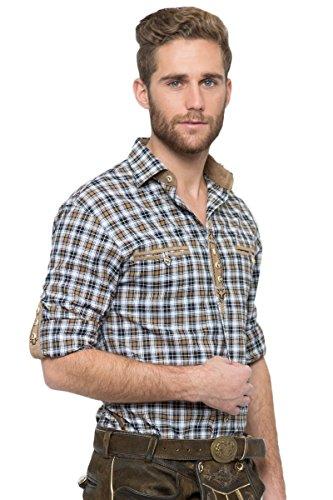 OS-Trachten Herren Trachtenhemd Dean braun/schwarz H040081 40
