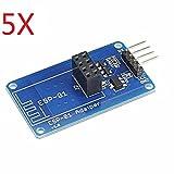 Ils - 5 Pièces ESP8266 Série Wi-FI sans Fil ESP-01 Adaptateur Module 3.3V 5V Compatible pour Ardui
