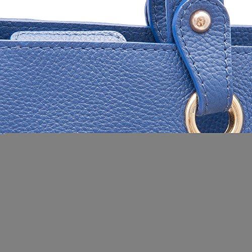 Zerimar Borse a mano da donna | 100% pelle alta qualità | Borsa della Signora | Borsa a mano | Borsa Grande | Borsa Piccola | Scomparti multipli Blu navy