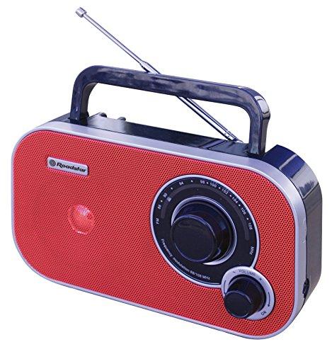 Roadstar TRA-2235 rot tragbares Radio mit Kopfhöreranschluss (UKW, Mono-Breitbandlautsprecher)