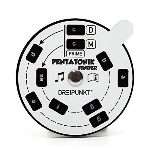 Pentatonik-Finder (weiß): Pentatonische Dur- und Moll-Tonfolgen schnell und einfach ermitteln.