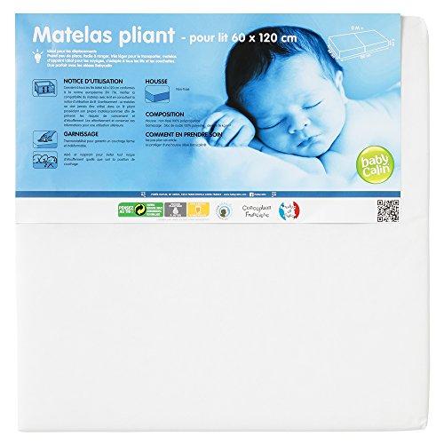 Preisvergleich Produktbild babyCalin Klappmatratze, 2Teile, fürs Bett, 16kg/m³,60x 120x 5cm